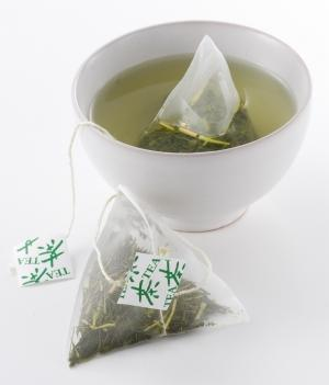 Green tea bags for bags